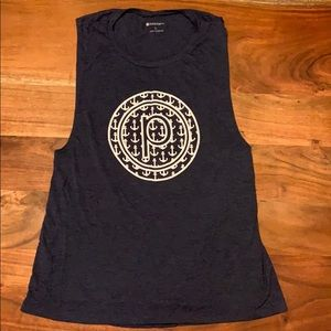 Pure Barre Circle P Anchors Muscle Tank - L